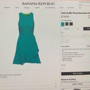 Banana Republic Petite ruffle wrap racerback dress